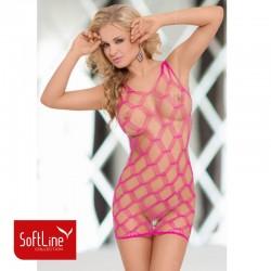 Розова мрежеста рокля Кейти