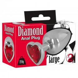Diamond Butt Plug Large анален разширител Сърце