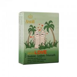 Релефни презервативи Amor Wild Love 3 бр