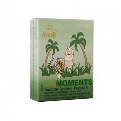 Презервативи с релеф AMOR Wild Moments 3 бр