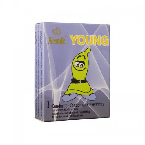 Малки презервативи AMOR YOUNG 3 бр