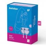 Менструална чашка 2бр. Feel Good Menstrual Cup Lilla by Satisfyer