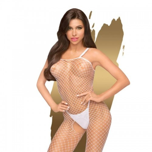 Секси бельо Fishnet bodystocking Body Search White S-L размер by Penthouse