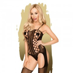 Bodystocking Bomb Squad S-L (black) боди с чорапи by Penthouse