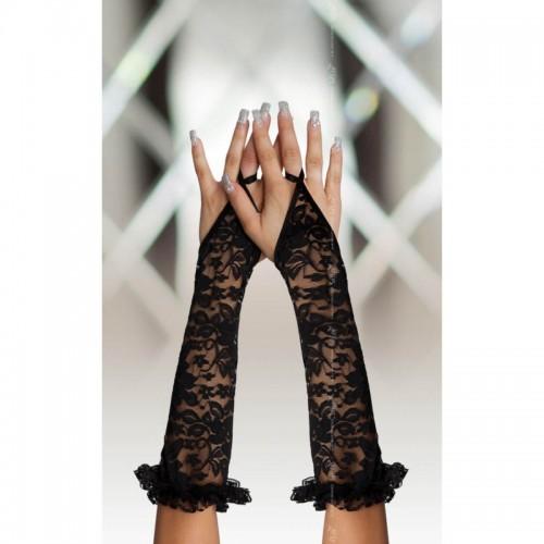 Еротични дълги дантелени ръкавици без пръсти