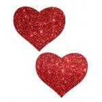 Бляскави лепенки за зърна Сърце