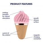 Клиторен вибратор с въртене Розов Сладолед Sweet Treat